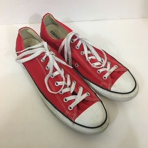 Converse Red Mens Sneakers Shoes Size 11.5